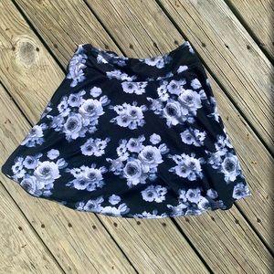 Black Floral Miniskirt